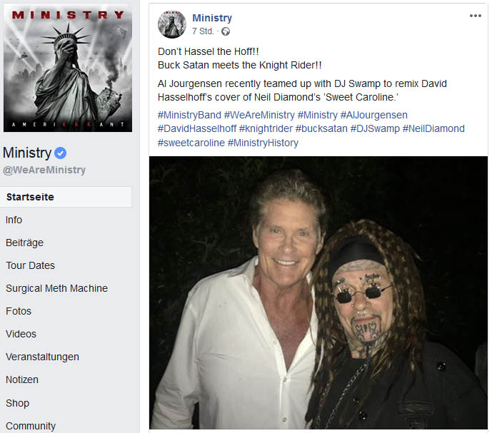 facebook ministry hasselhoff