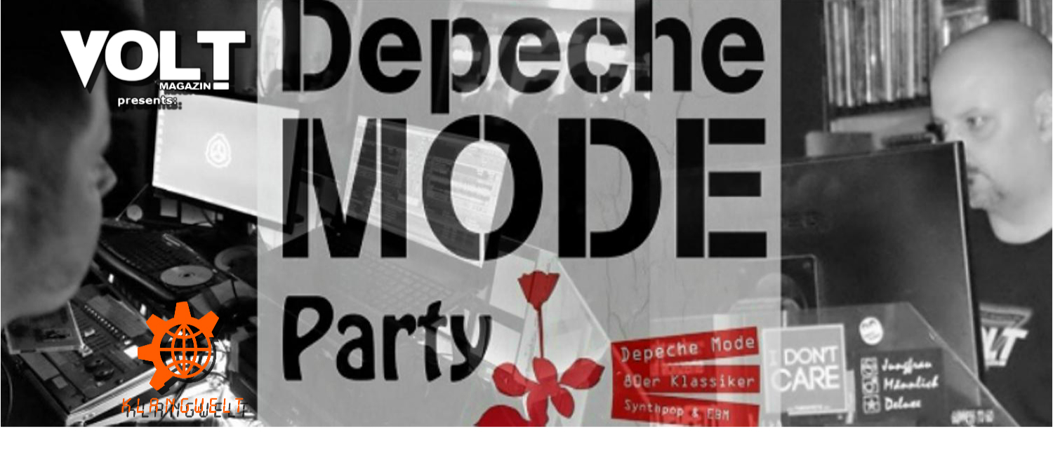 VOLT PRÄSENTIERT: Just Can't Get Enough – Depeche Mode Party